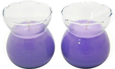 Aroma India Designer Pot Candle Set (set of 2) - Lavender Candle