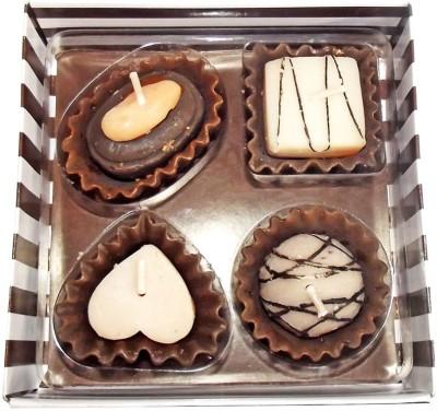 PeepalComm Love Chocolate Set of 4 Candle