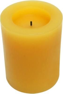 Expressme2u Flameless LED Candle(Orange, Pack of 1)