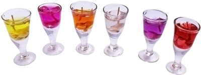 DIZIONARIO Wine Glass Gel Shape Gel Set of 6 Candle