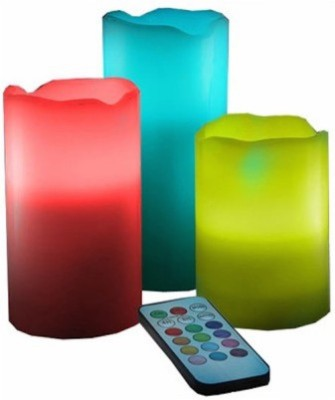 Flintstop 3 PC LED Stand with Remote Candle
