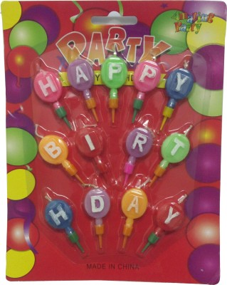 Atpata Funky Balloon Shape Alphabetical Happy Birthday Candle
