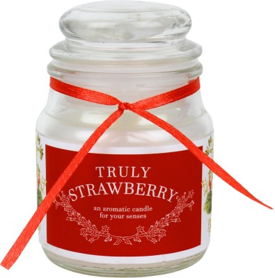 Khatte Meethe Desires Dome Jar Aroma Candle - Strawberry Candle
