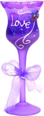 My Art purple love Candle