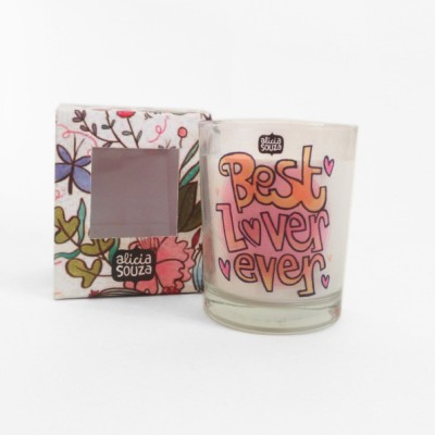 Alicia Souza Best Lover ever shot glass Candle