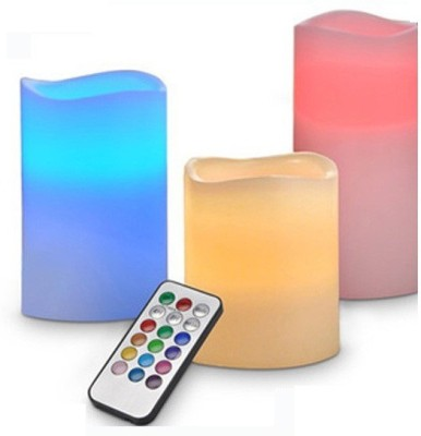 M Supervision Diwali Special - 12 LED Color changing light with Remote Control Candle