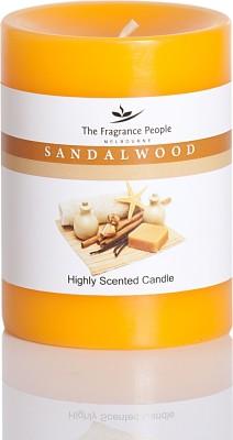 The Fragrance People Medium Pillar 3 x 4 Sandal Wood Candle