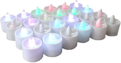 Ace LED Tealight Pack of 24 Candle(Multicolor, Pack of 24)
