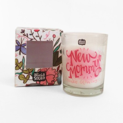 Alicia Souza New Mommy shot glass Candle