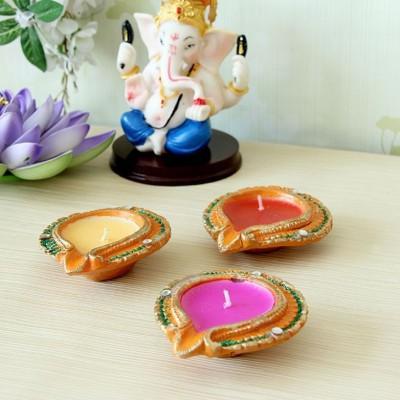 Illume Lamp & Candles Rangoli 3 Diyas Pack Candle
