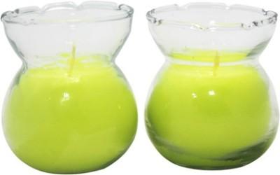 Aroma India Designer Pot Candle Set (set of 2) - Lemongrass Candle