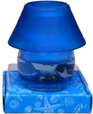 JV9 Blue Night Lamp Glass Gel Candle