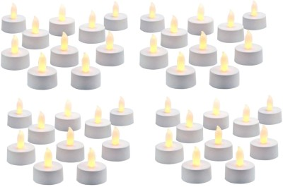 Rasmy Candles Led Tealight Yellow Pac Of 40 Candle(Yellow, Pack of 40)
