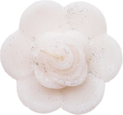 Rasmy Candles Floating Rose flower Big white pack of 2 Candle