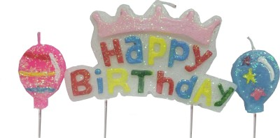 Atpata Funky Happy Birthday with 2 Balloons Candle