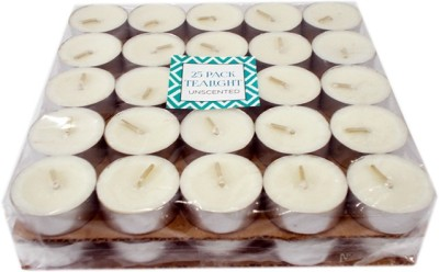Ekam Unscented 50 Pack Tealight Candle(White, Pack of 50)