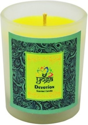Yoga Collection by Aroma India Scented Votive Candle Frosted Candle