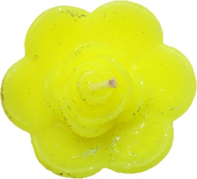 Rasmy Candles Floating Rose flower Big yellow pack of 2 Candle