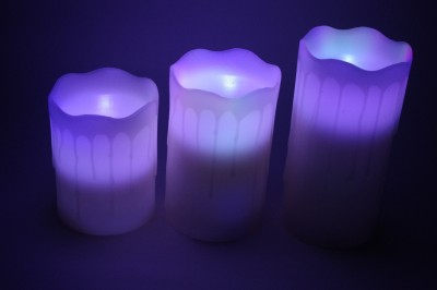 Gran White Decorative Wax Flameless Color Changing LED Candles Candle