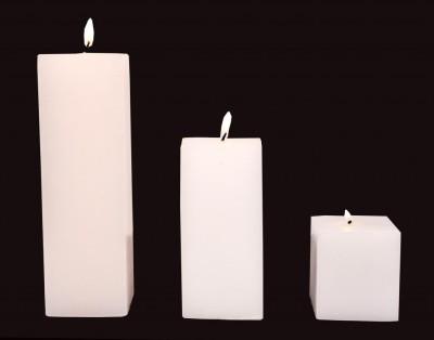 Indigo Creatives Classy White 3 Nos Large Wax Gift Set Candle Candle