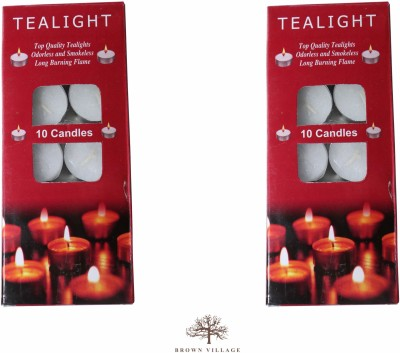 Brown Village T-Light Candle