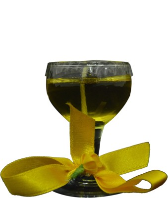 Itzmyfashion Yellow color glass Candle