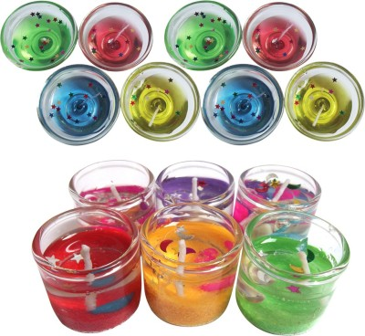 Bemoree Gel Pot Diya With Small Glass Candle