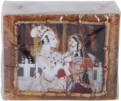 Artistique Radha Krishna Block (2 tea lights) Candle