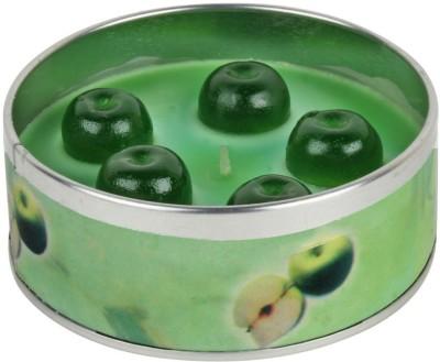 PeepalComm Romantic Green Apple Fruit Scented Set of 2 Candle