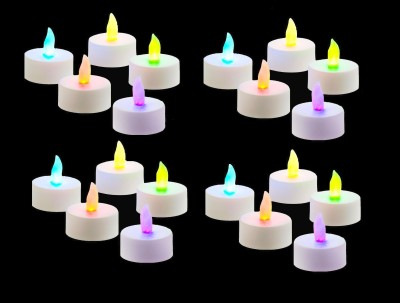 Rasmy Candles 7 Color autochanging LED Multicolour Tealight Birthday/ Festival / Anniversary / All purpose set of 20 Candle