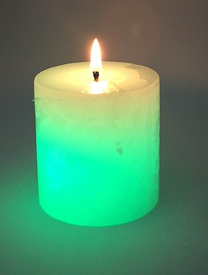 Zayn D, Colour changing Pillar Gift Candle