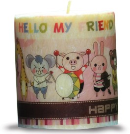 Kaarti Birthday Pillar Candles Candle(Multicolor, Pack of 1)
