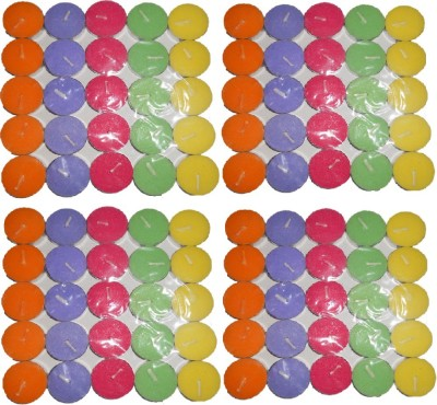 Rasmy Candles Multi colour Tea Lights pac of 100pcs Candle
