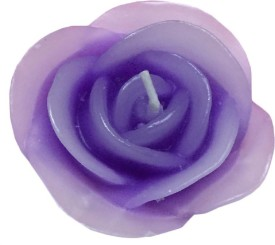 FUZONE ROSE Candle(Purple, Pack of 3)