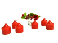 OBEROI TRENDY Candle(Red, Pack of 6)
