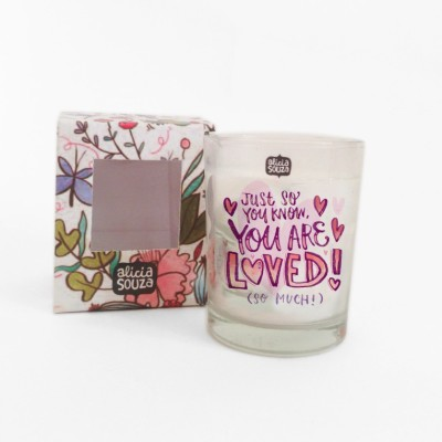 Alicia Souza You are loved shot glass candle Candle