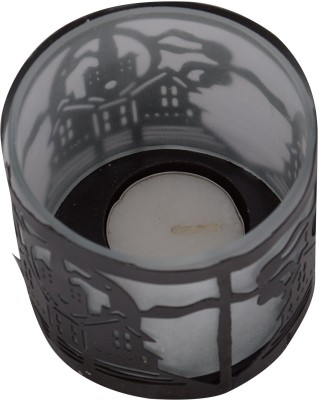 A33 Store Black Decorated Glass Candle