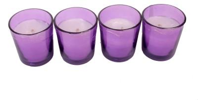 Silverlight Purple Glass Votive Candle