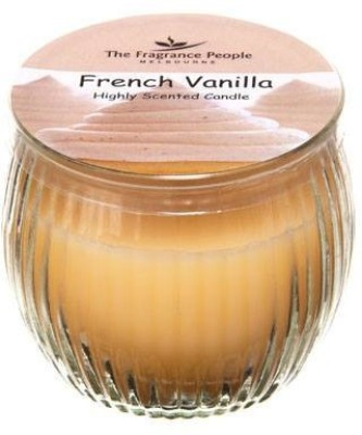 The Fragrance People Vanilla Ribbed Jar Candle Candle