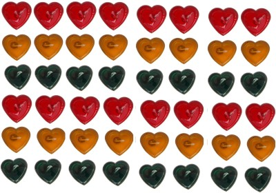 Rasmy Candles Heart Shape Gel pac of 48 Candle