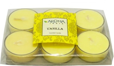 Aroma India Scented Polycarbonate Tea Light Set (6pcs) Candle