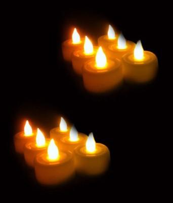 Aadishwar Creations Aashirwad Craft Led T-Light-Set Of 12 Candle