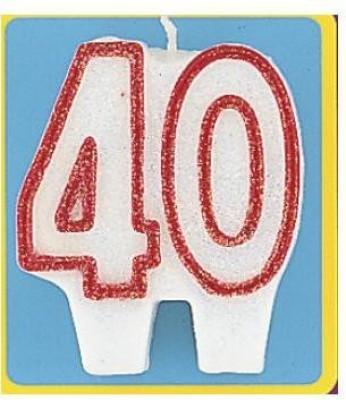 Amscan International Birthday # 40 With Gliter Candle
