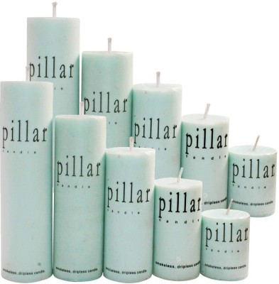 DIZIONARIO GreenApple Pillar Wax Set Of 10 Candle