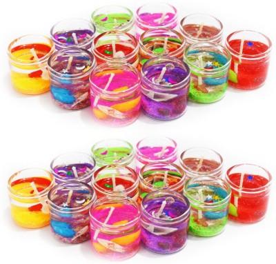 Dizionario Festi Mini Candle Glass 2.5cm Multicolor Candle