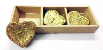 Illume Lamp & Candles Golden Heart Shaped Pack Candle
