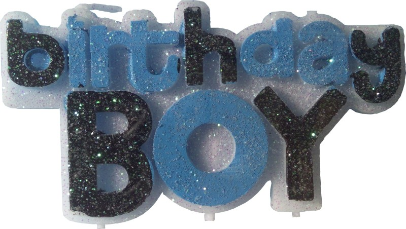 Atpata Funky Birthday Boy Candle(Multicolor, Pack of 1)