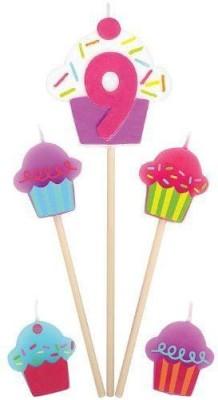 Amscan International Birthday Pick Cupcake #9 Candle