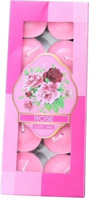 Brown Village T-Light Rose Candle