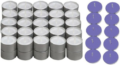 Rasmy Candles White Tealight 50 Pcs Get Scented Lavender 10 Pc Diwali Special Candle